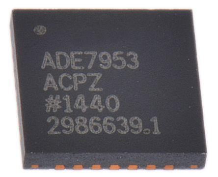 Analog Devices ADE7953ACPZ Energy Meter IC, 24 bit, 28-Pin LFCSP WQ