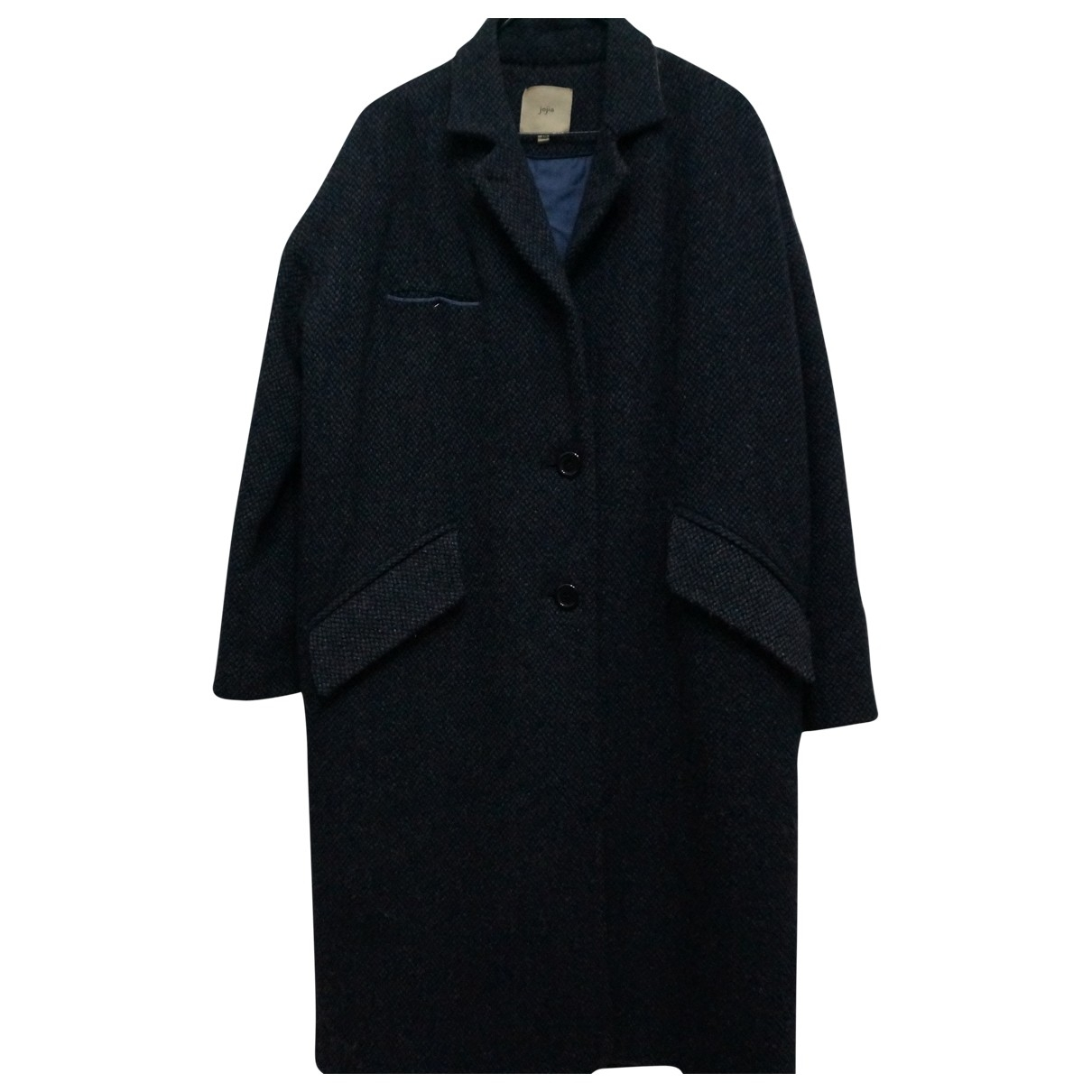 Non Signé / Unsigned \N Grey Wool coat for Women 42 IT