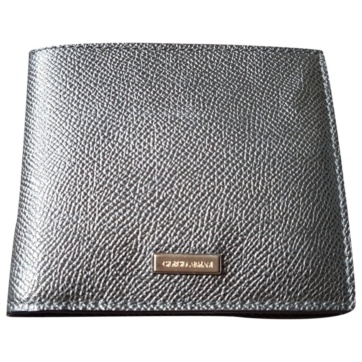 Giorgio Armani \N Black Leather Small bag, wallet & cases for Men \N