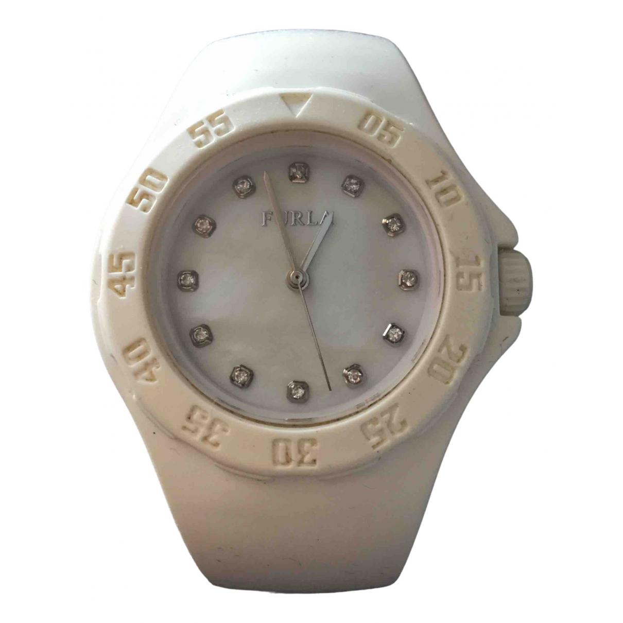 Furla \N White Steel watch for Women \N