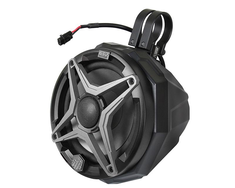 SSV Works US2-C65K-175 Cage Mount Pods Including 1.75 Inch Clamps w/ Kicker Marine KM651 195 Watt 6 1/2 Inch Speakers Universal