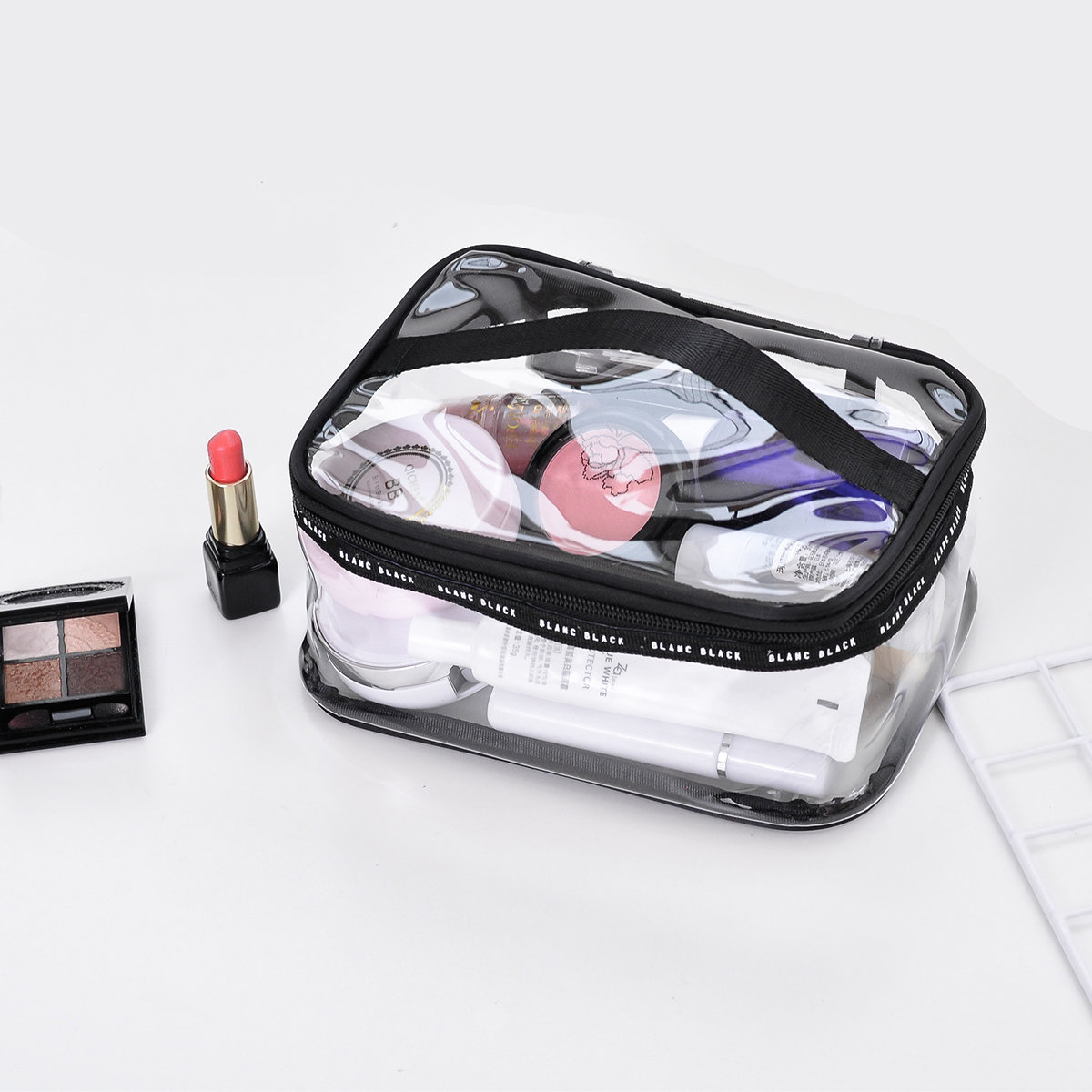 Large Clear Zipper Cosmetic Plastic Make-up Bag Storage Containers Travel Portable Bins