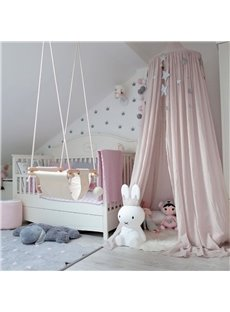 Cotton Cloth Fabric Nordic Style Kids Room Decor Round Canopy