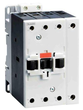 Lovato 4 Pole Contactor - 90 A, 230 V ac Coil, 4NO, 22 kW