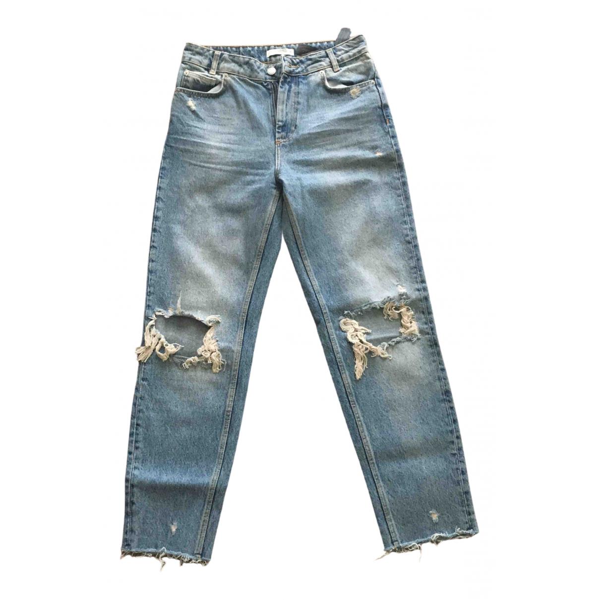 Zara \N Blue Cotton - elasthane Jeans for Women 36 FR