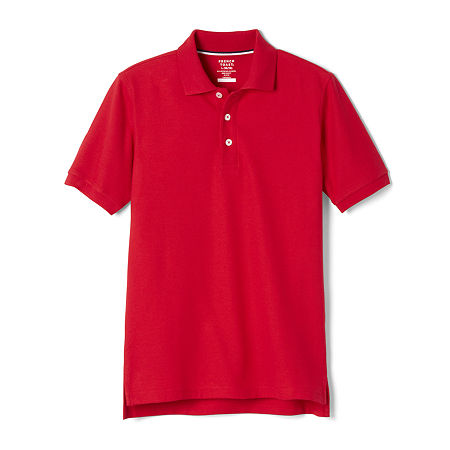 French Toast Big Boys Short Sleeve Polo Shirt, 12 Husky , Red
