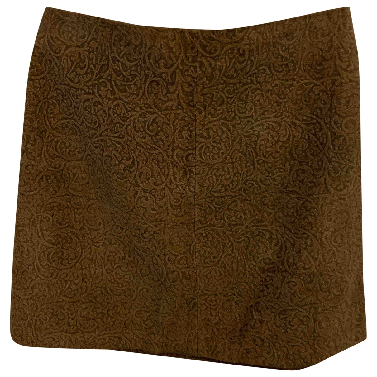 Gianfranco Ferré \N Brown Leather skirt for Women 42 IT