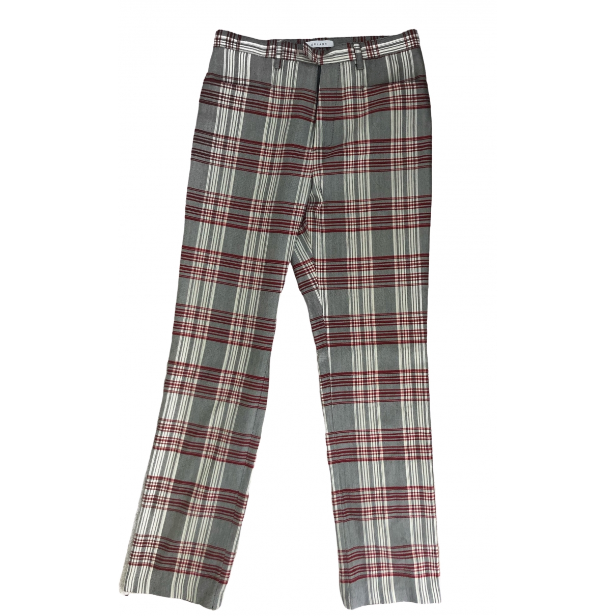 Delada \N Multicolour Cotton Trousers for Women 12 UK