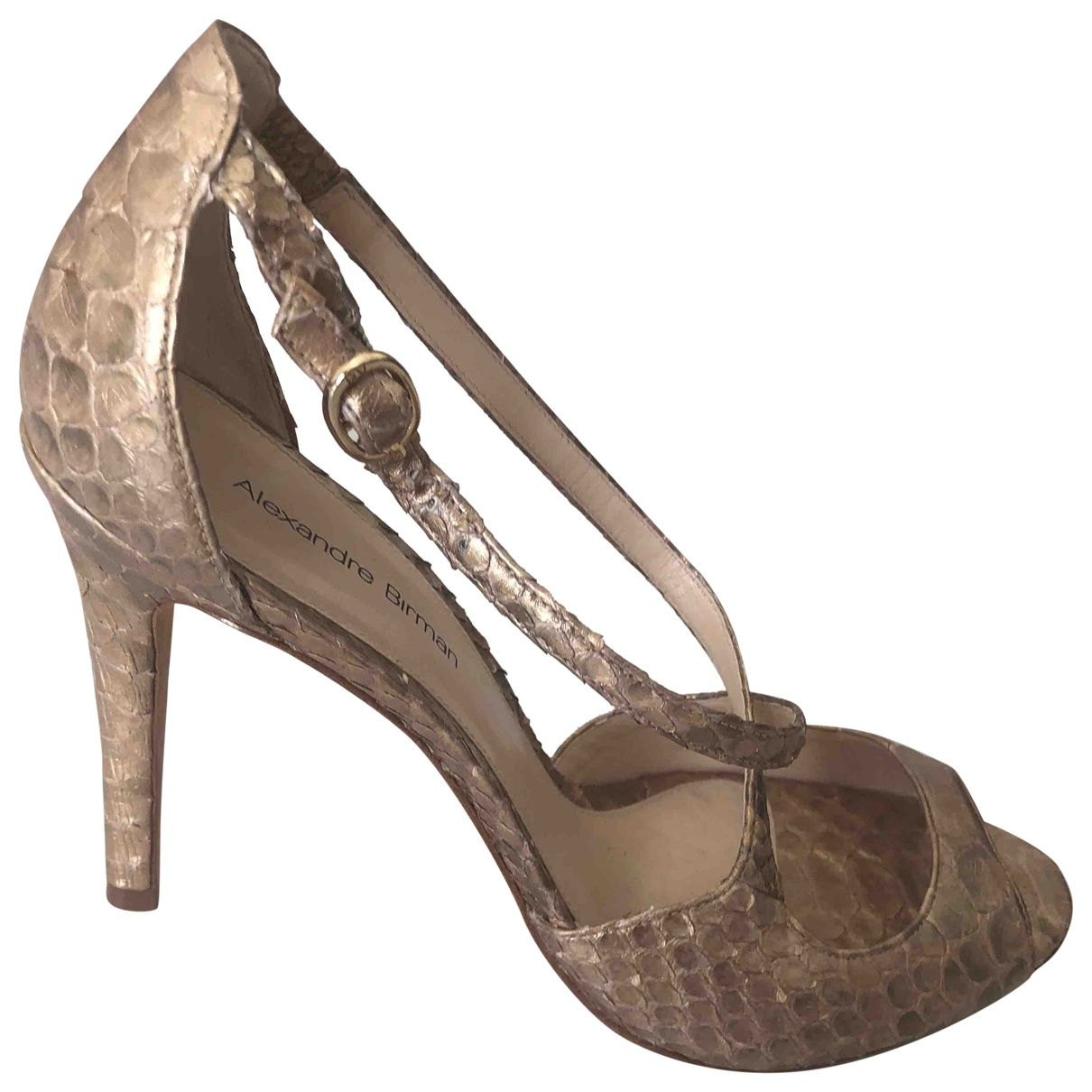 Alexandre Birman \N Gold Exotic leathers Sandals for Women 8.5 US