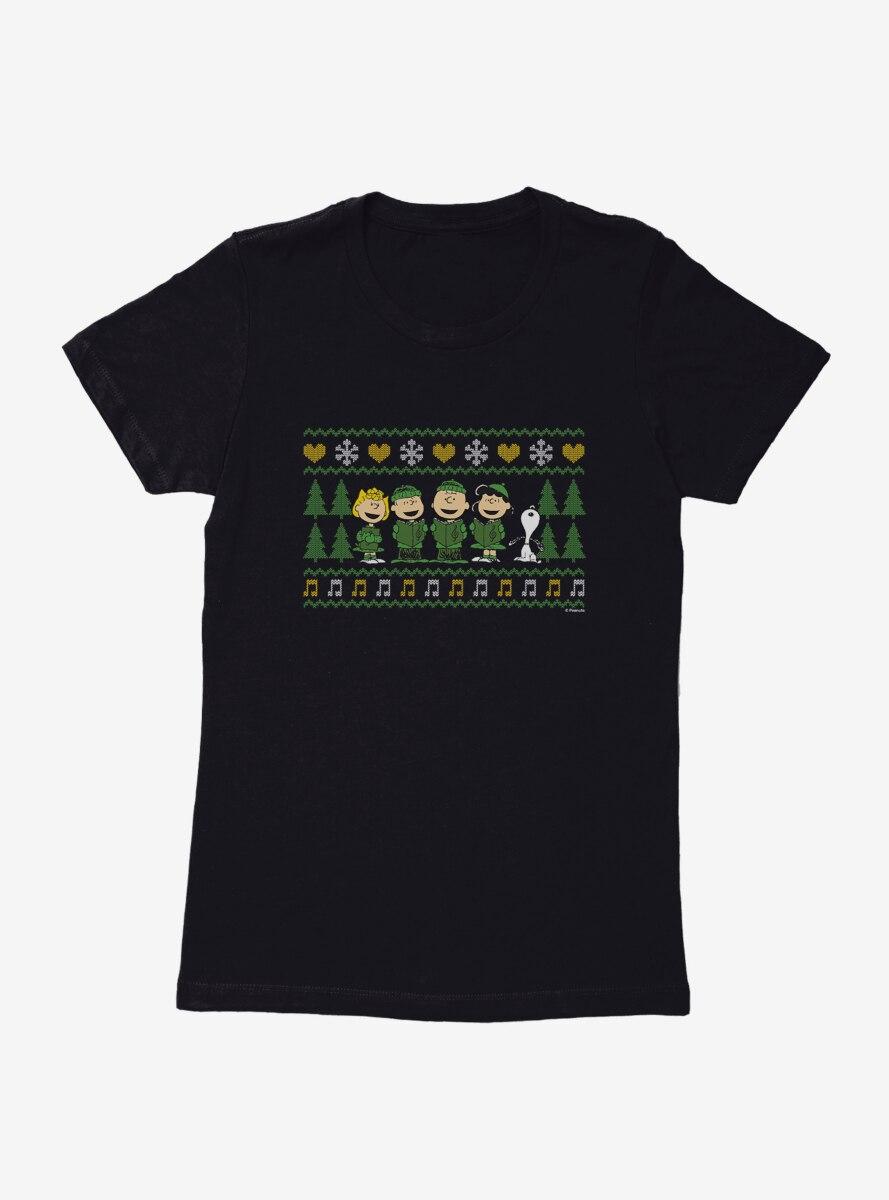 Peanuts Caroling Gang Womens T-Shirt