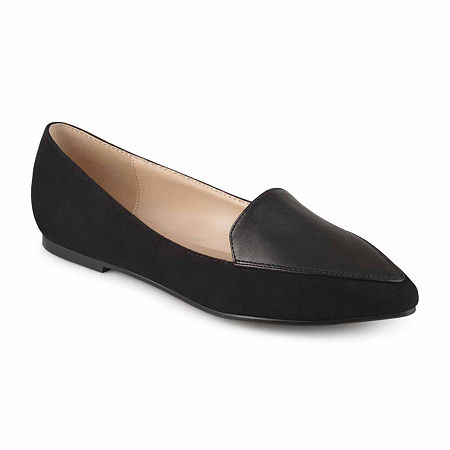 Journee Collection Womens Kinley Loafers, 6 1/2 Medium, Black