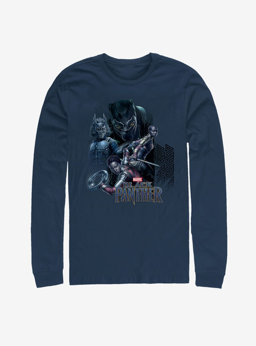 Marvel Black Panther Character View Long Sleeve T-Shirt