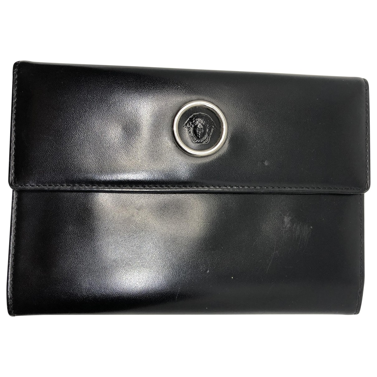 Gianni Versace \N Black Leather wallet for Women \N