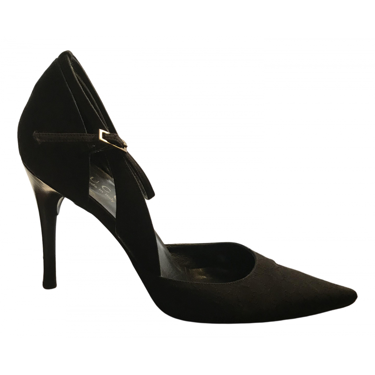 Gucci \N Black Cloth Heels for Women 36 EU