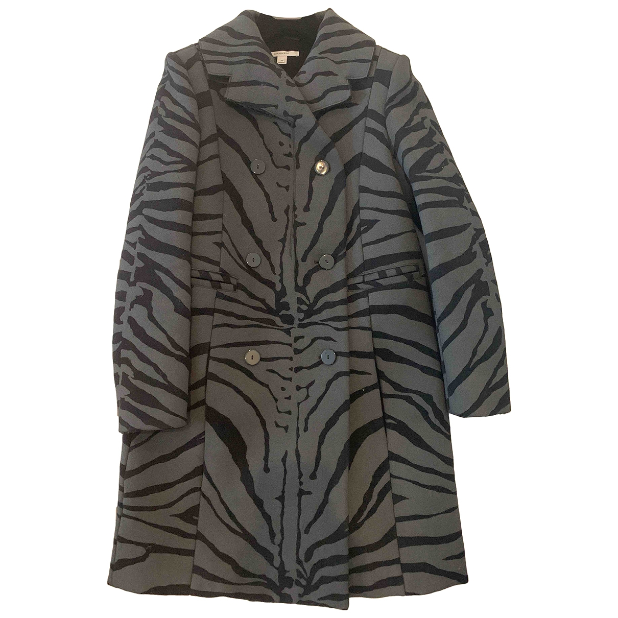 Carven \N Anthracite Wool coat for Women 36 FR