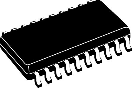 ON Semiconductor MM74HC244WMX Octal-Channel Buffer & Line Driver, 3-State, 20-Pin SOIC W (5)