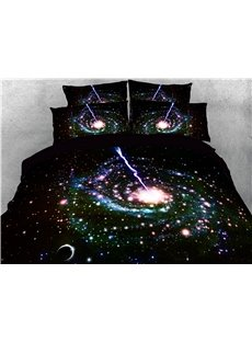 Shining Star Spiral Galaxy Printing 4-Piece 3D Bedding Sets/Duvet Covers