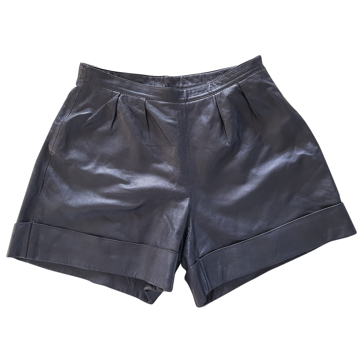Uterque \N Brown Leather Shorts for Women S International