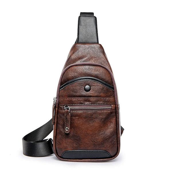 Vintage Casual Chest Bag Sling Bag Crossbody Bag For Men
