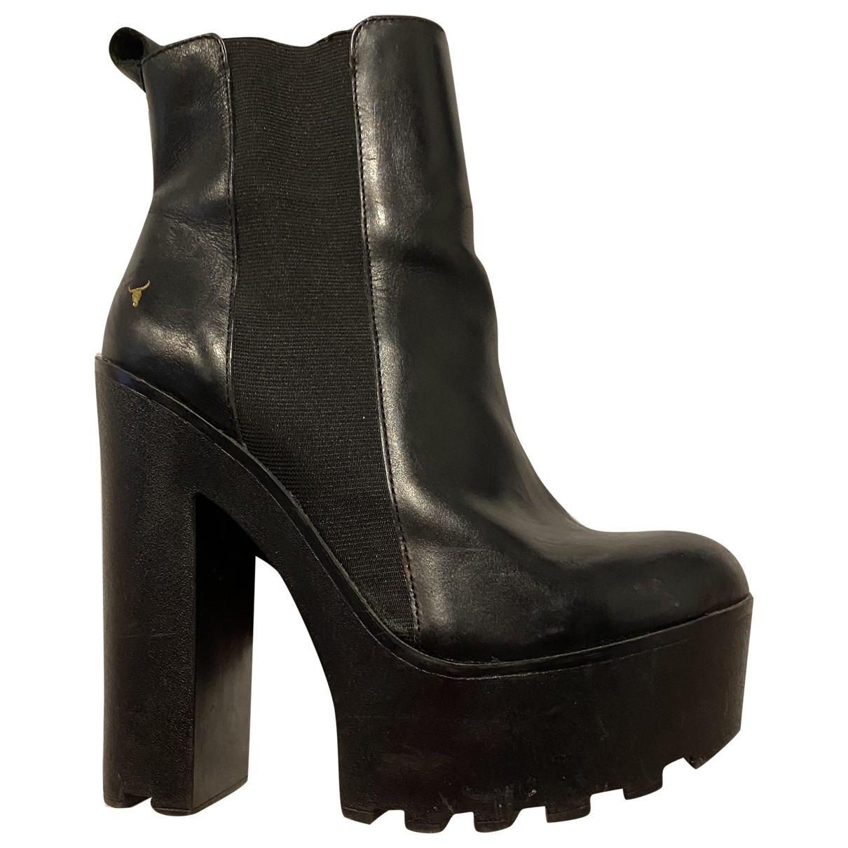 Windsor Smith \N Black Leather Heels for Women 39 IT