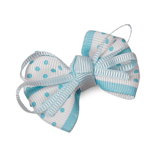 Grosgrain Light Blue Ribbon Boutique Bow 2