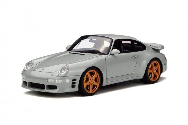 Porsche Ruf Turbo R Grey Limited Edition to 1500pcs 1/18 Model Car by GT Spirit