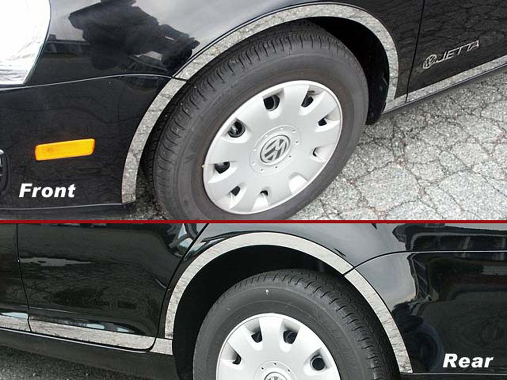 Quality Automotive Accessories 8-Piece Stainless Steel Wheel Well Fender Trim Kit Volkswagen Jetta 2006