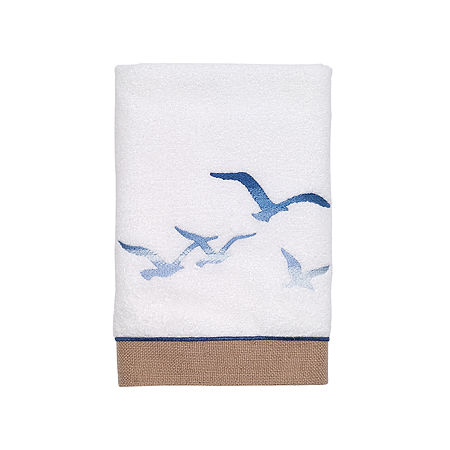 Avanti Seagull Bath Towel Collection, One Size , White