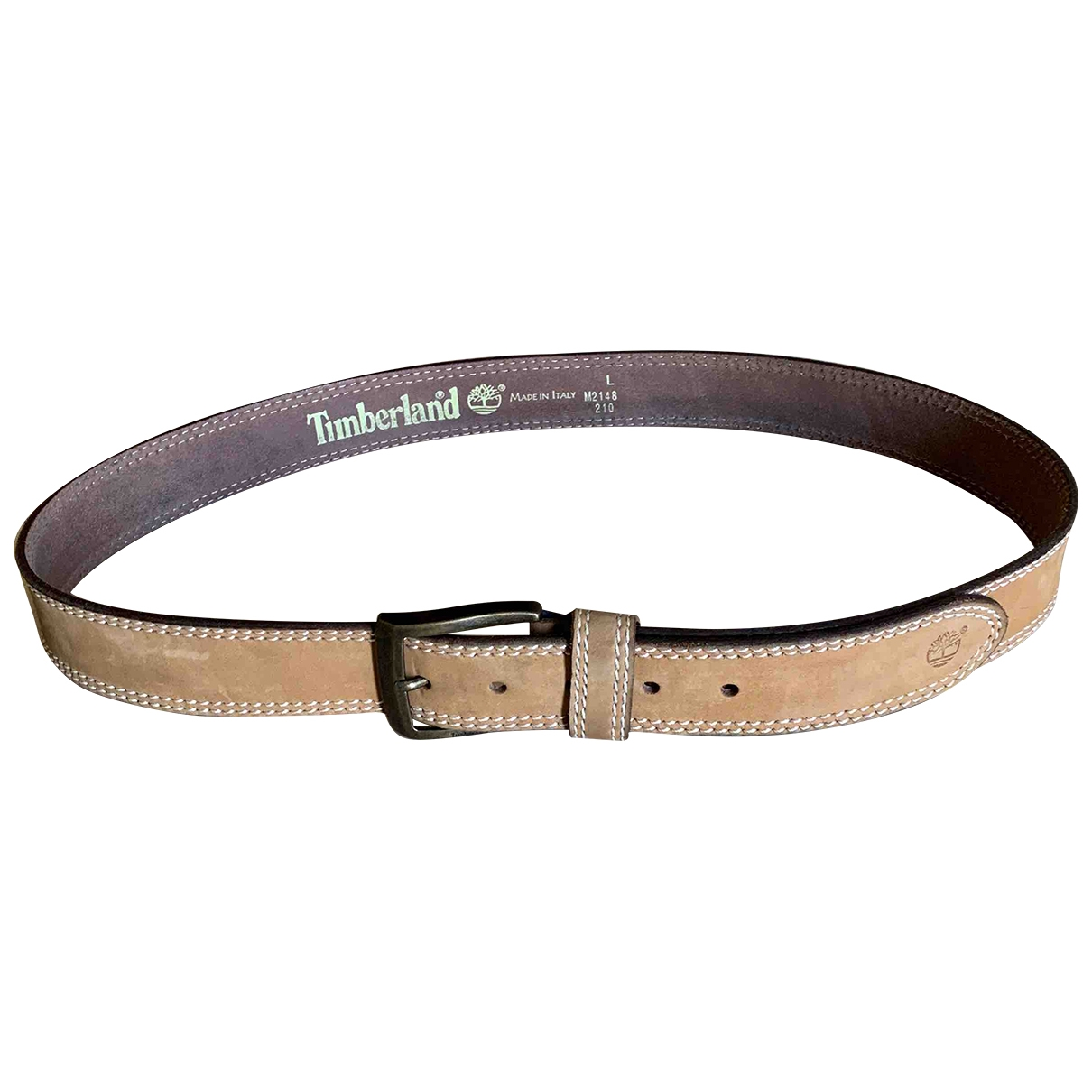 Timberland \N Ecru Leather belt for Men L international
