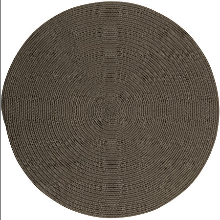 Colonial Mills Nantucket Reversible Braided Indoor/Outdoor Round Rug, One Size , Gray