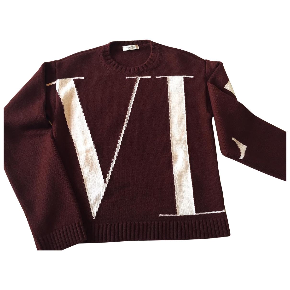 Valentino Garavani \N Burgundy Cashmere Knitwear & Sweatshirts for Men S International