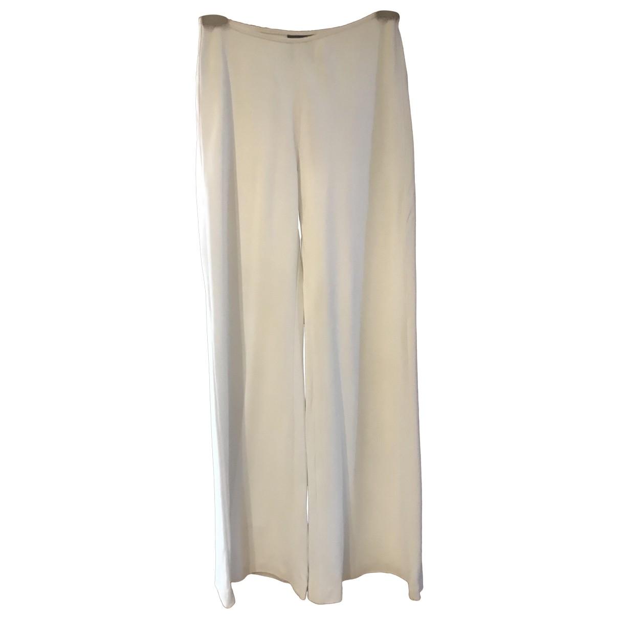 Jean Paul Gaultier \N White Trousers for Women 38 FR