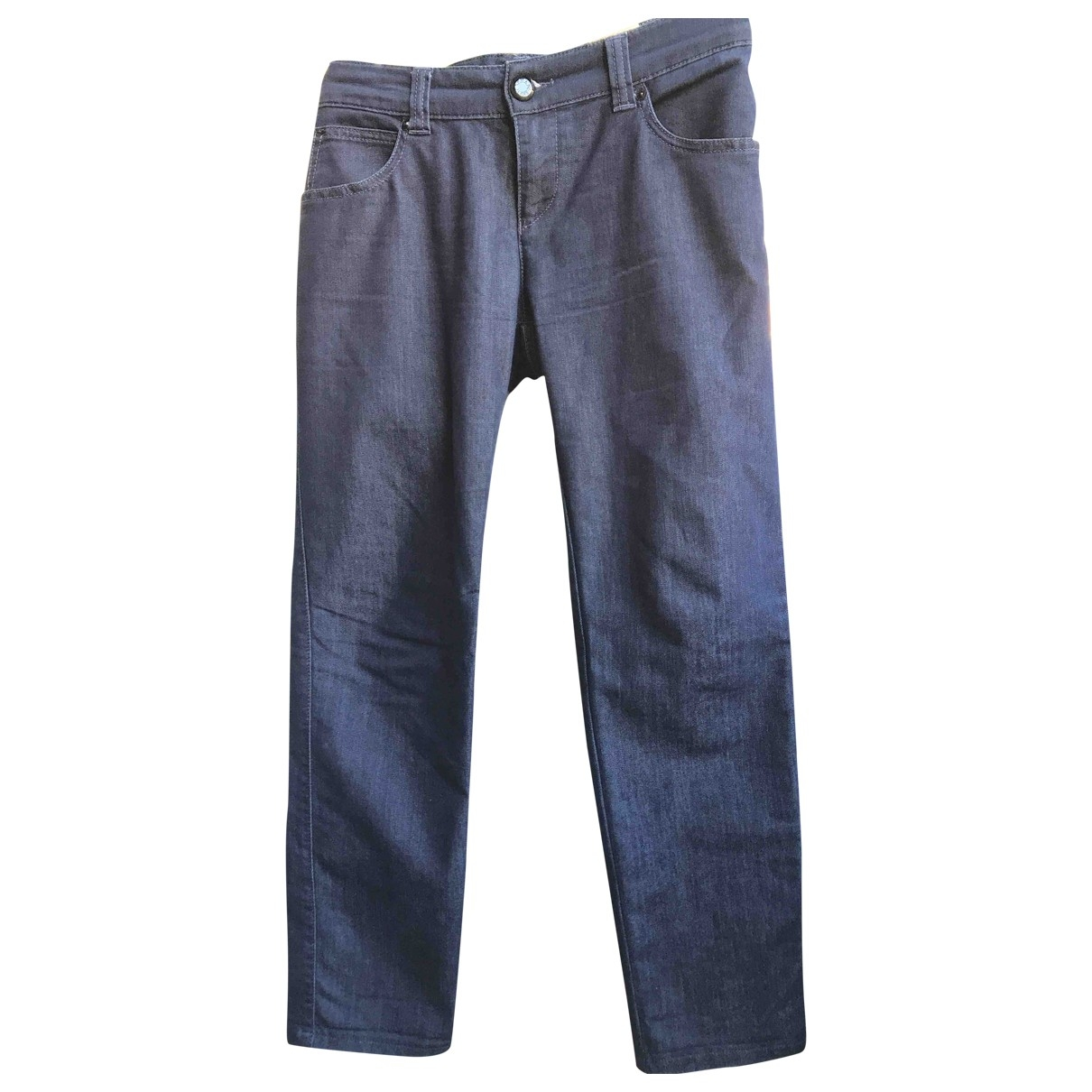 Armani Jeans \N Blue Cotton - elasthane Jeans for Women 30 US