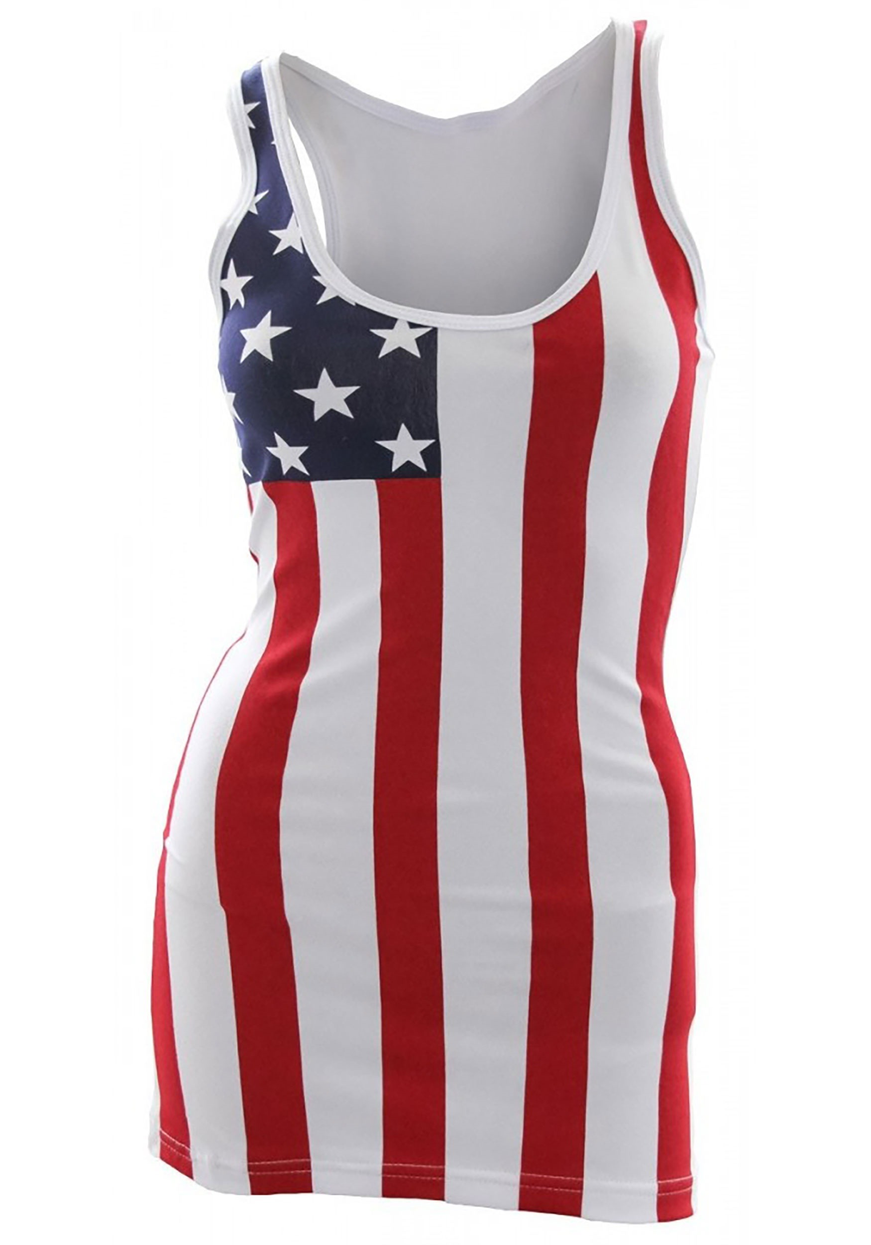 USA Flag Tank Top Cover Up for Women