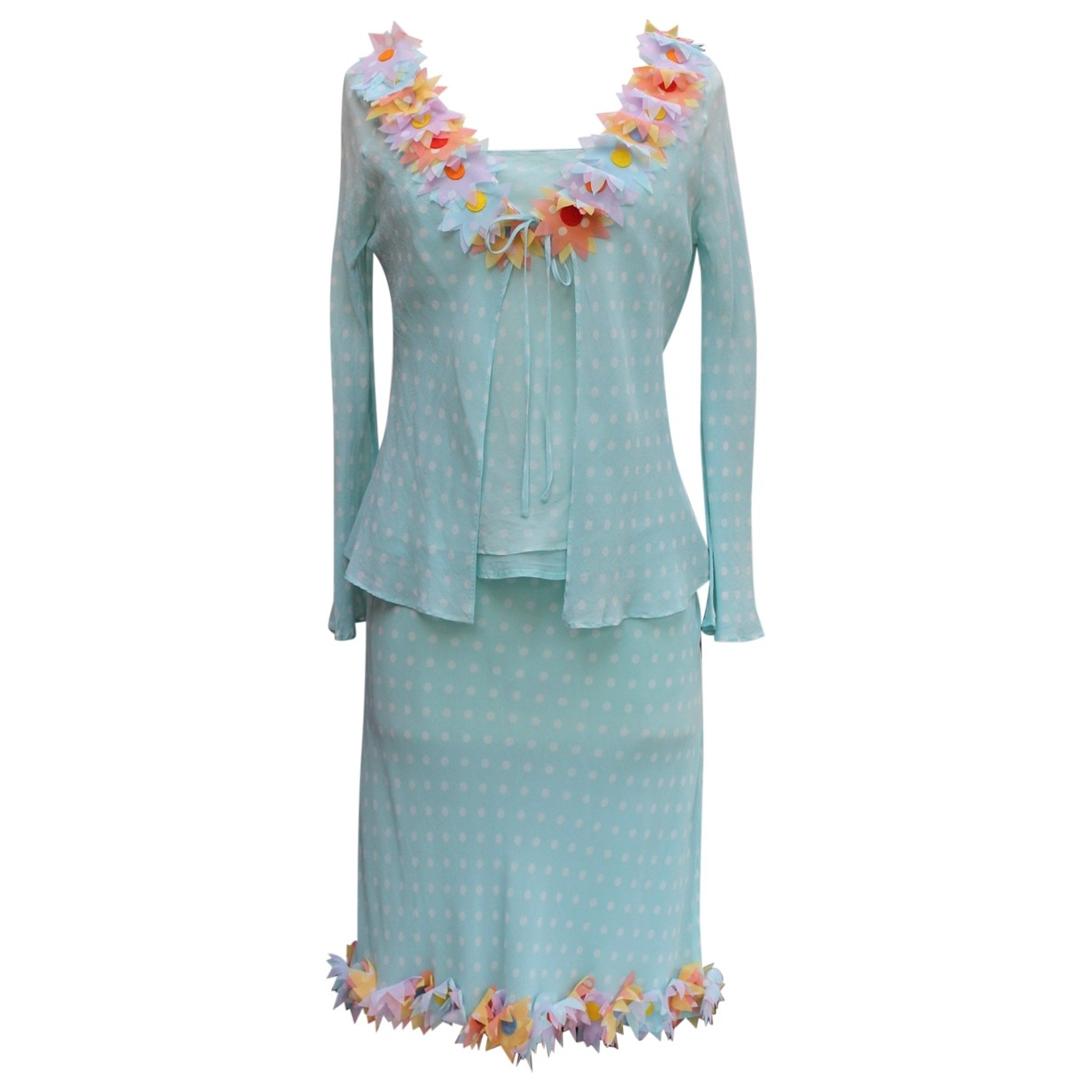 Moschino \N Turquoise Silk dress for Women 38 FR