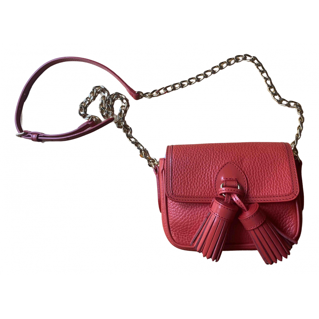 Burberry \N Red Leather Clutch bag for Women \N