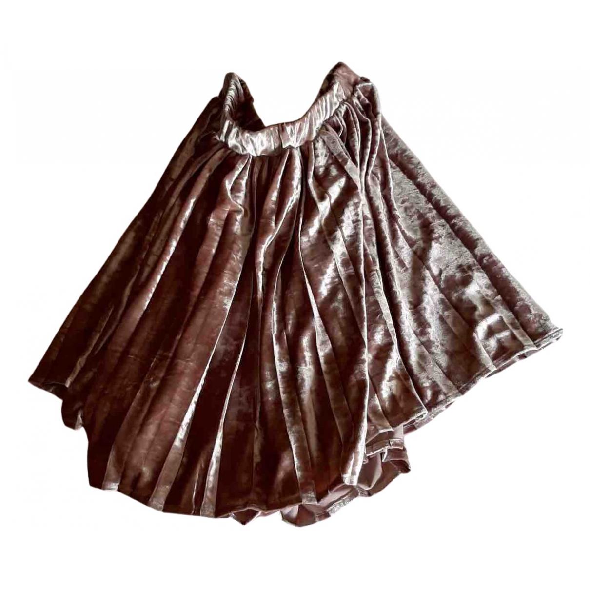 Vicolo \N Pink Velvet skirt for Women One Size International