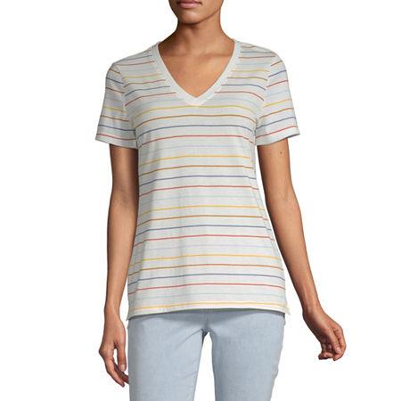 a.n.a Womens Short Sleeve T-Shirt, X-large , White
