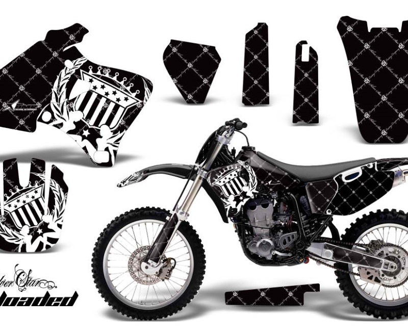 AMR Racing Graphics MX-NP-YAM-YZ 250F/400F/426F-98-02-SSR W K Kit Decal Wrap + # Plates For Yamaha YZ 250F/400F/426F 1998-2002áRELOADED WHITE BLACK