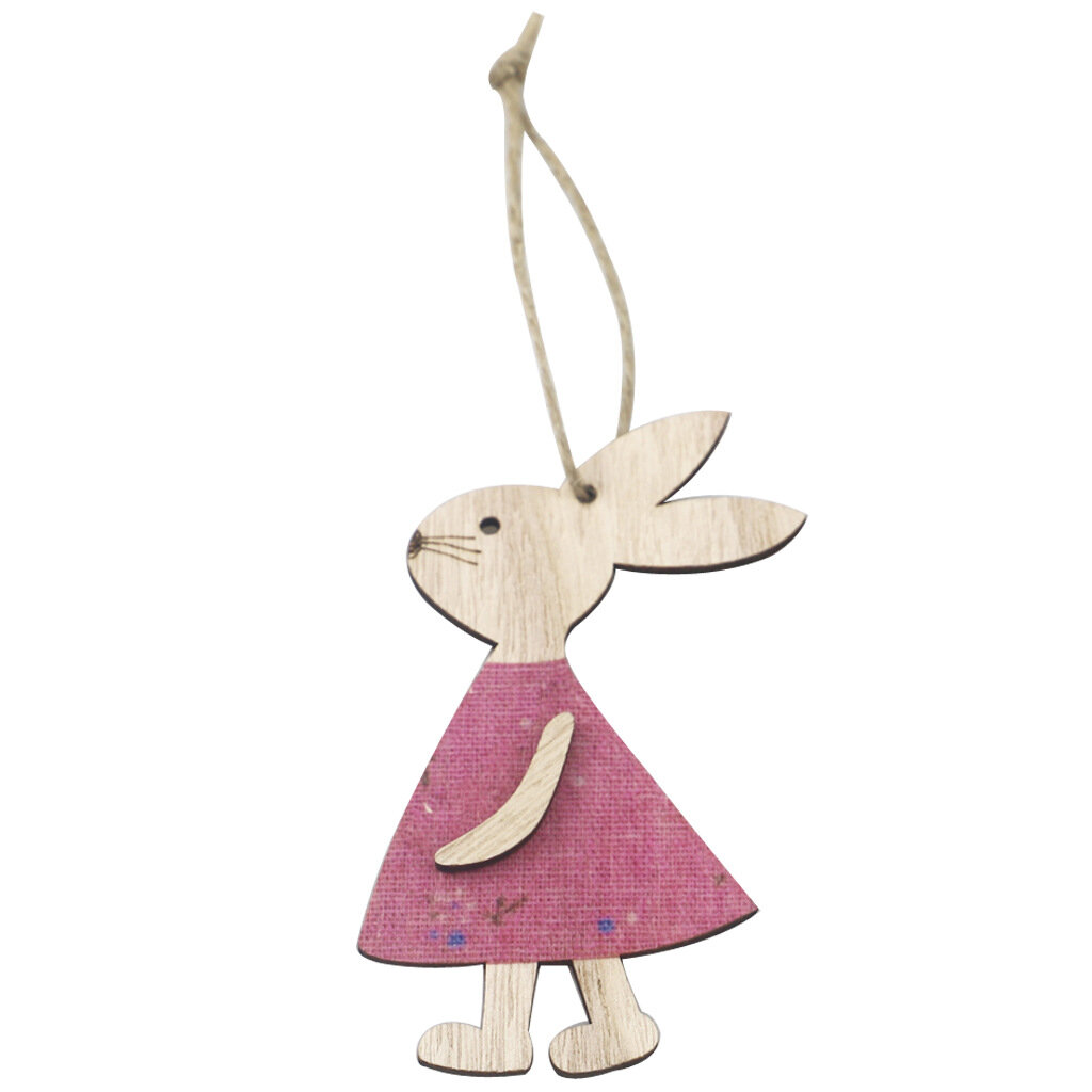 Easter Decoration Wooden Easter Bunny Pendant Home Decoration Pendant