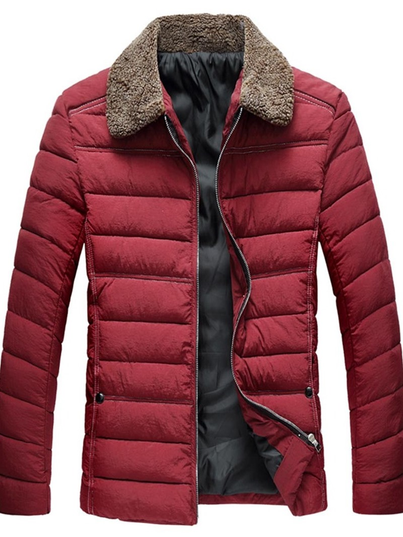Ericdress Color Block Patchwork Lapel European Men's Down Jacket