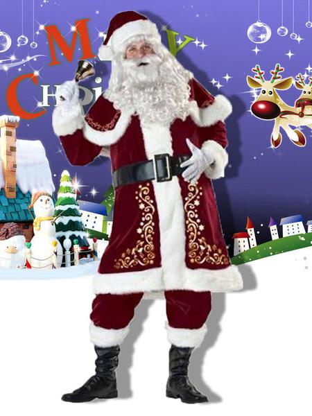 Milanoo Christmas Santa Clause Outfit