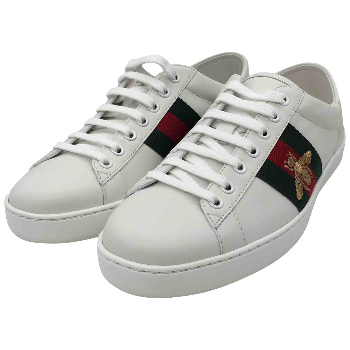 Gucci Ace White Leather Trainers for Men 6 UK