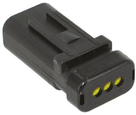 TE Connectivity , AMPSEAL 16 Automotive Connector Socket 1 Row 3 Way, Crimp Termination, Black