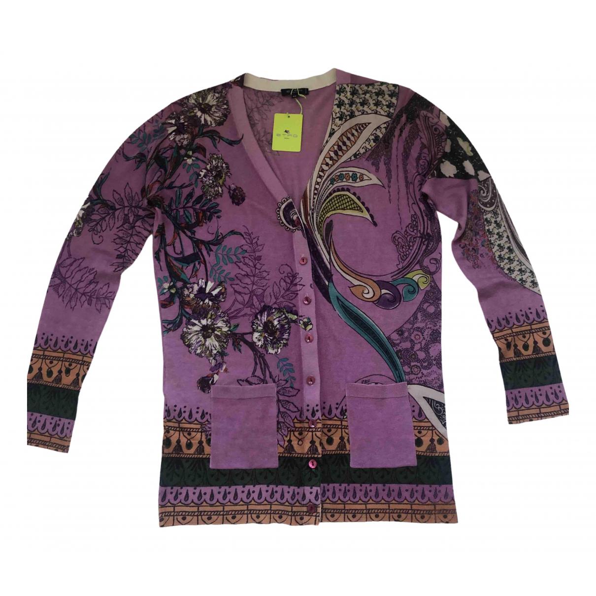 Etro \N Purple Silk Knitwear for Women 44 IT