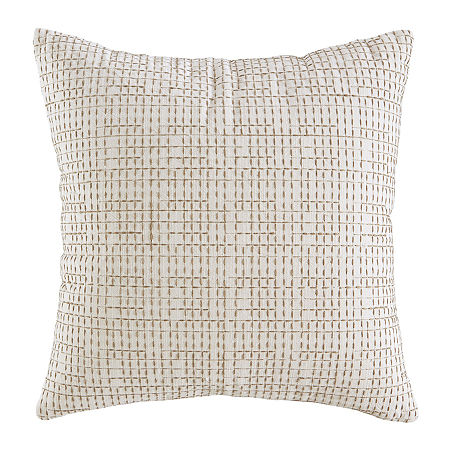 Signature Design by Ashley Arcus Square Throw Pillow, One Size , Beige