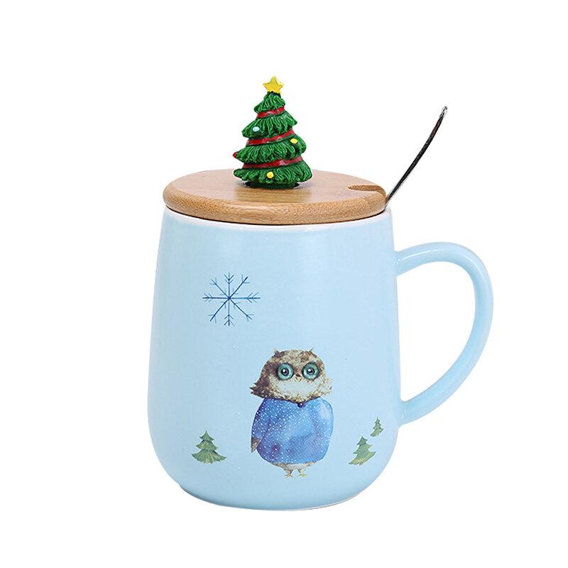 Creative Mug Lovely Pattern Coffee Mug Christmas Tree Cover Mug