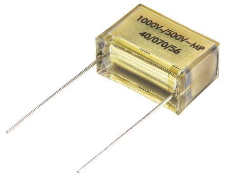 KEMET Paper Capacitor 100nF 1 kV dc, 500 V ac ±10% Tolerance PME261 Through Hole +100°C (5)