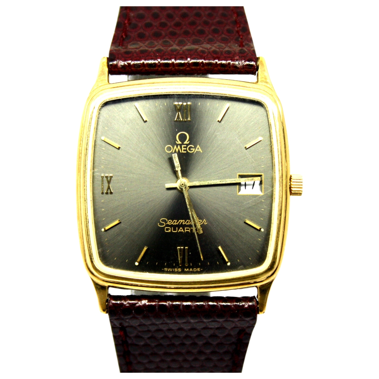 Omega Seamaster Grey gold and steel watch for Women \N