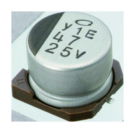 Nichicon 100μF Electrolytic Capacitor 35V dc, Surface Mount - UWH1V101MCL1GS (10)